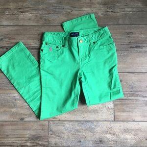 Ralph Lauren Green Chinos Girls Size 8